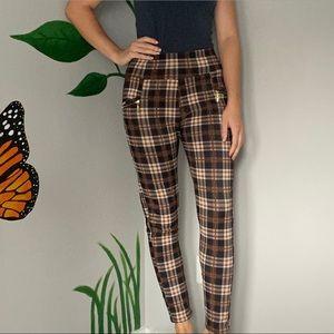 3/20$ Bottom Shop Plaid lined warm pants